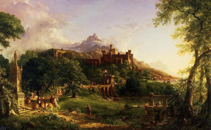 Thomas Cole Departure oil painting image
